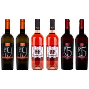 confezione 6 bottiglie-aglianico rosato falanghina