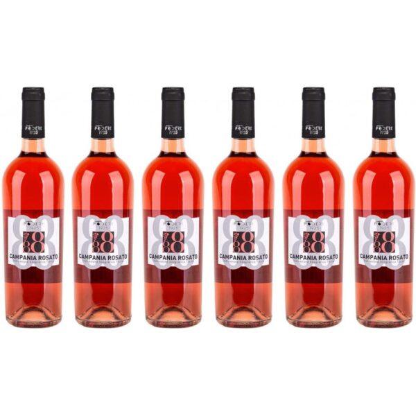 confezione 6 bottiglie campania rosato