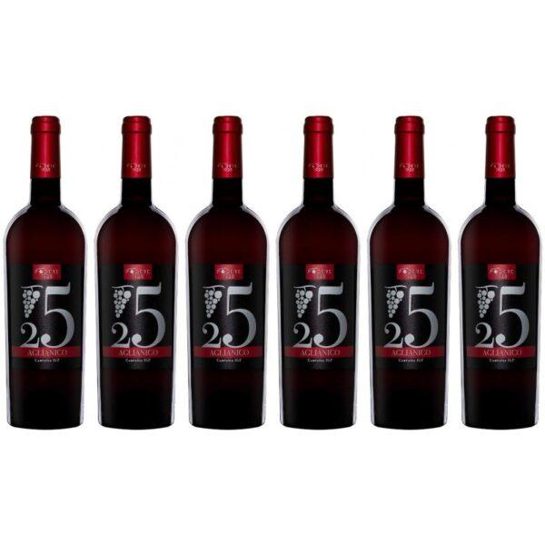 confezione vino 6 bottiglie aglianico