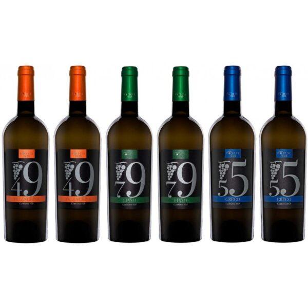 confezione vino 6 bottiglie falanghina fiano greco