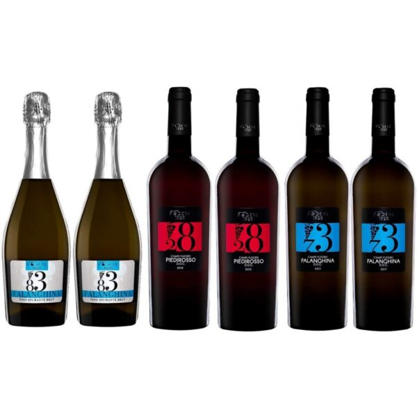 confezione vino 6 bottiglie falanghina piedirosso spumante