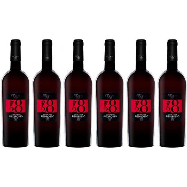 confezione vino 6 bottiglie piedirosso